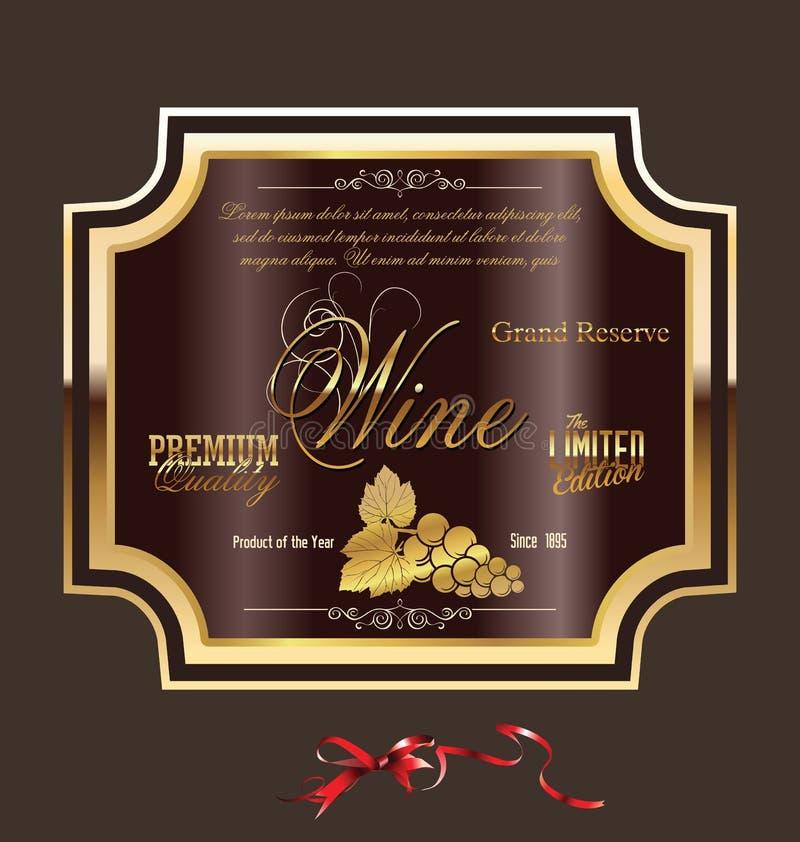 przylepiać etykietkę więcej mój portfolio wektorów wino royalty ilustracja