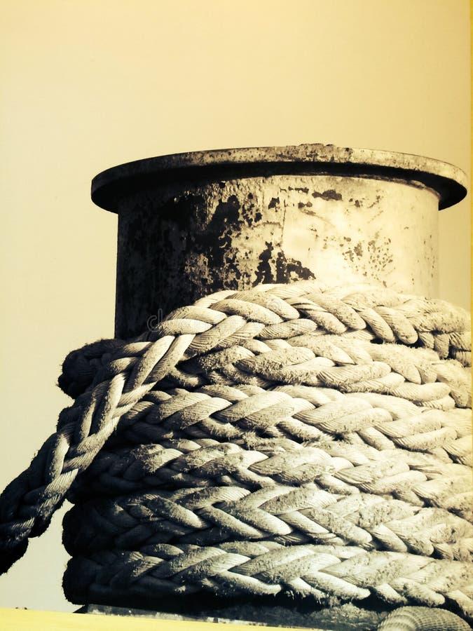 przymocowywający linowy statek zdjęcie stock