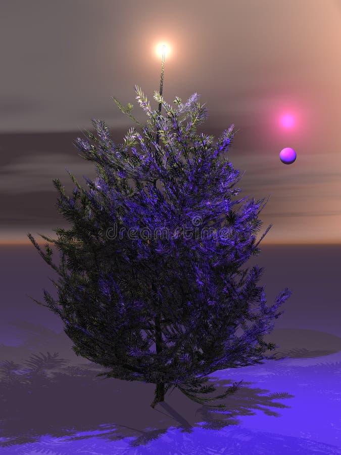 przynieś boże narodzenie w domu w końcu ich drzewo ilustracji