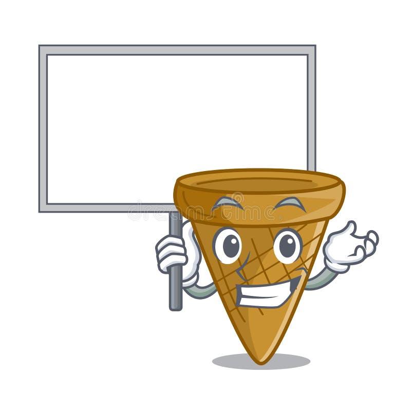 Przynosi deskową opłatka rożka charakteru kreskówkę ilustracja wektor