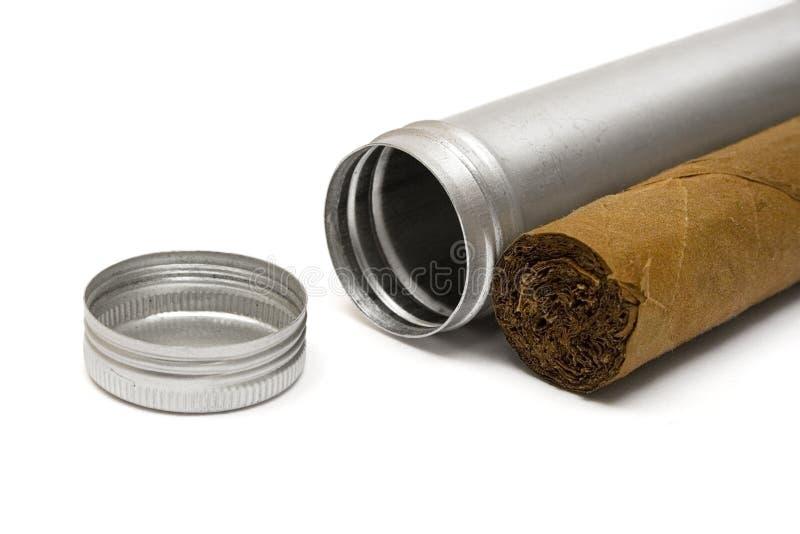 przypadki cygara metalu zdjęcie stock