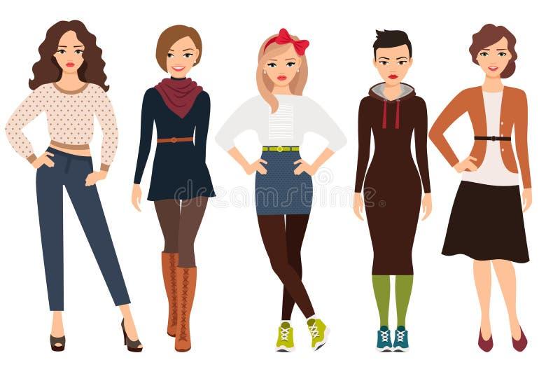 Przypadkowa moda dla kobiety royalty ilustracja