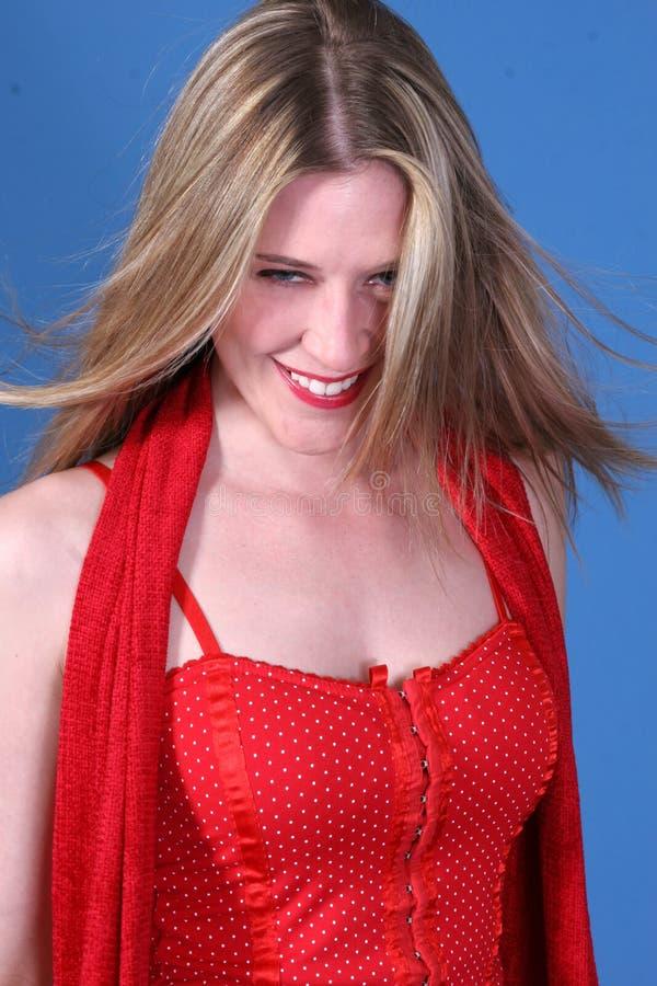 przypadkowa portret kobiety blond obrazy stock