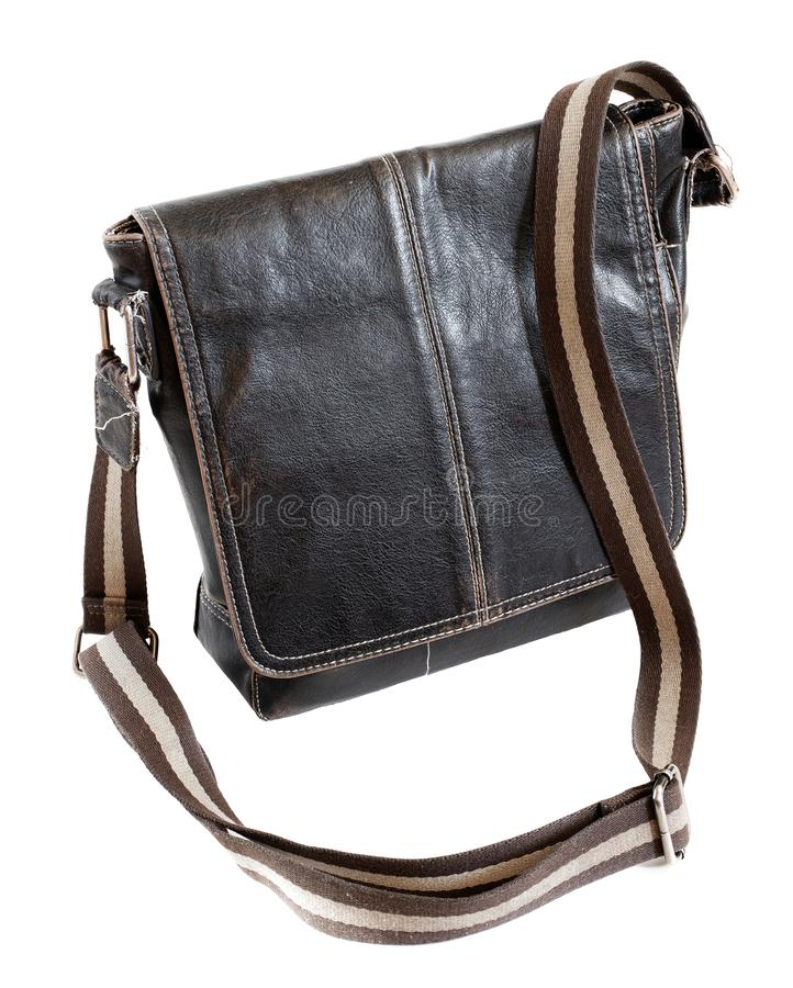 Przypadkowa retro projektująca rzemienna biznesowa bagaż torba fotografia royalty free