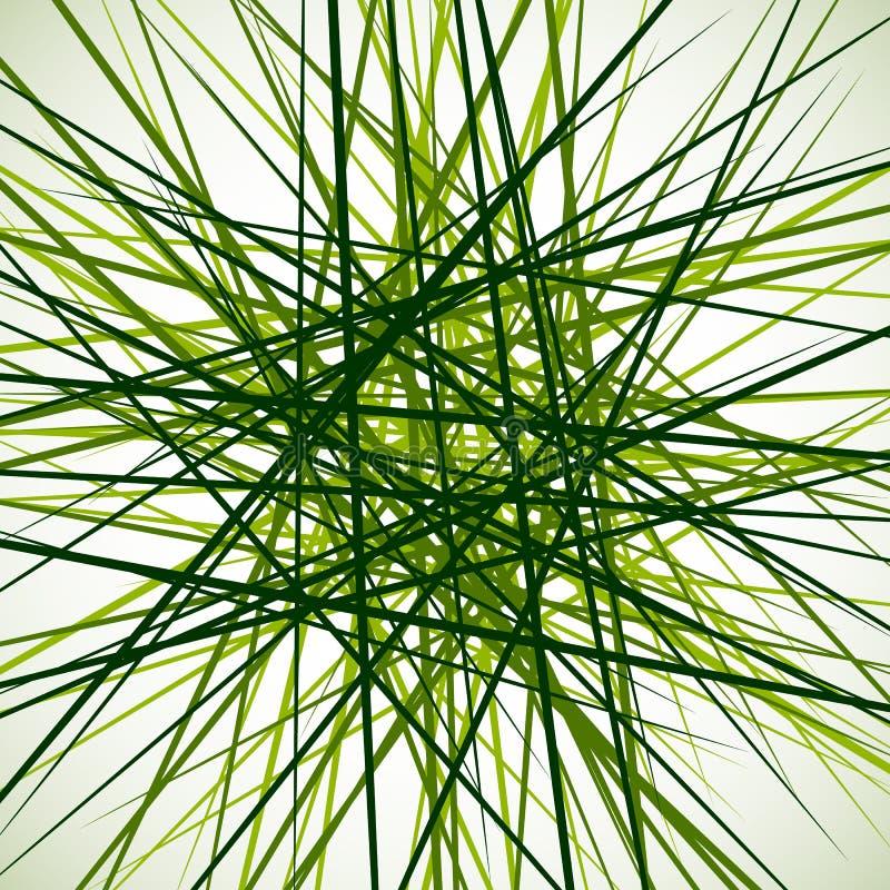 Przypadkowe chaotyczne przecina linie Abstrakcjonistyczny geometryczny monochrom ilustracja wektor