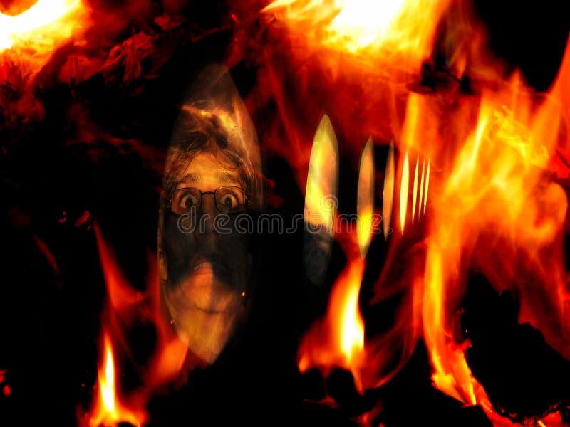 przypadkowe ogień fotografia stock