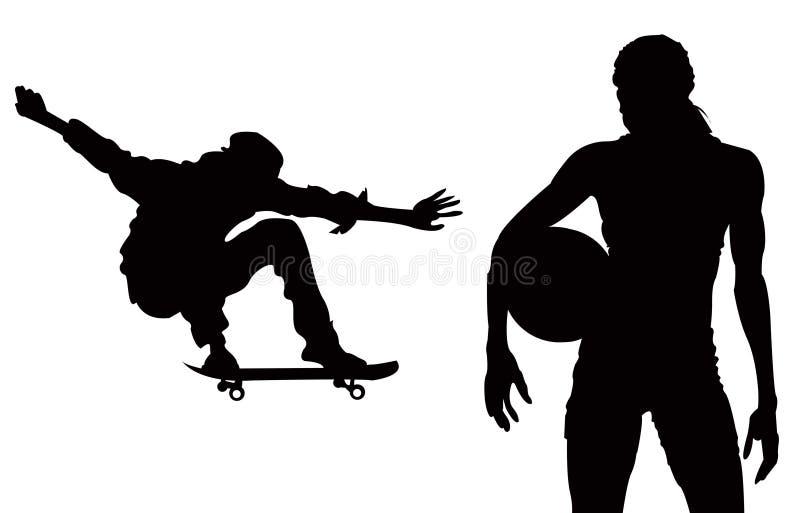przypadkowe sporty. ilustracja wektor