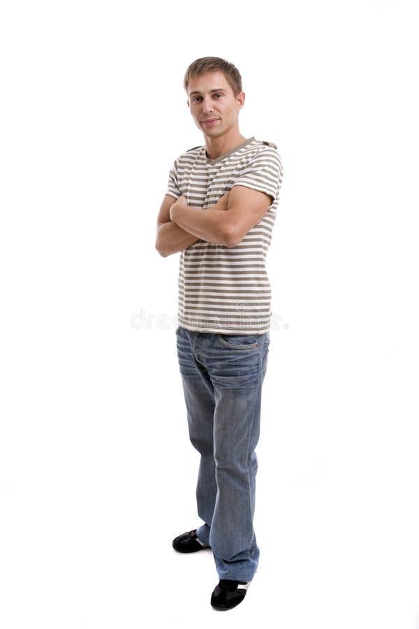 przypadkowego mężczyzna target591_0_ potomstwa obraz stock