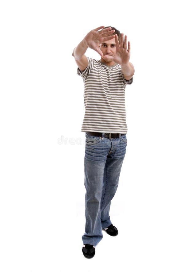 przypadkowego mężczyzna target602_0_ potomstwa zdjęcia stock