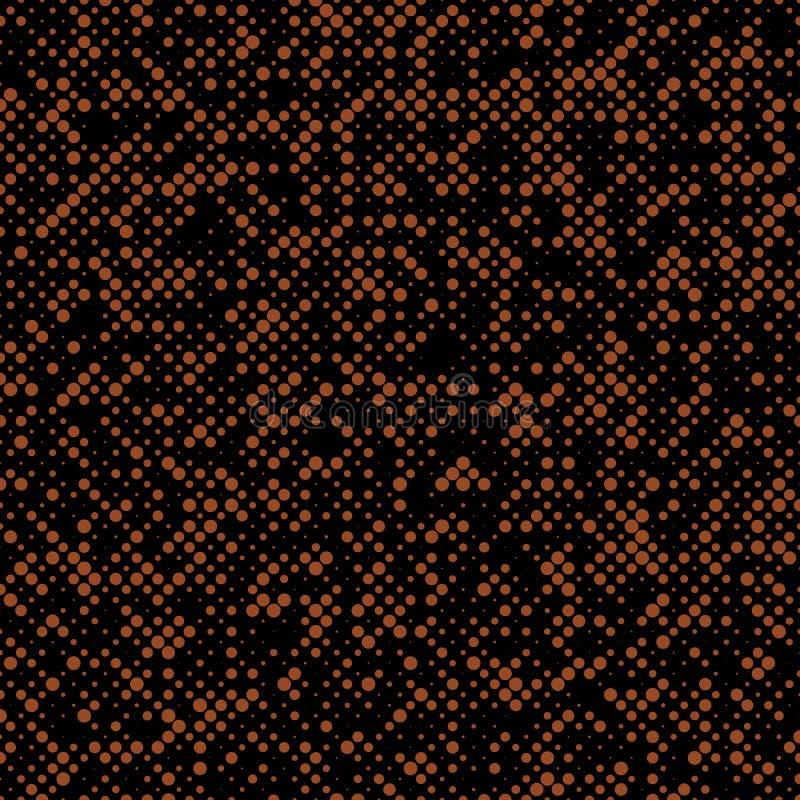 Przypadkowy abstrakcjonistyczny halftone okręgu wzoru tło - wektorowa ilustracja ilustracja wektor