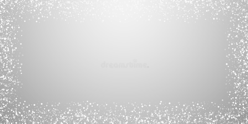 Przypadkowy biel kropkuje Bożenarodzeniowego tło Subtelna komarnica royalty ilustracja