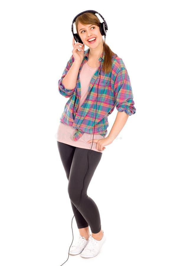 przypadkowy dziewczyny hełmofonów target2355_0_ zdjęcie stock