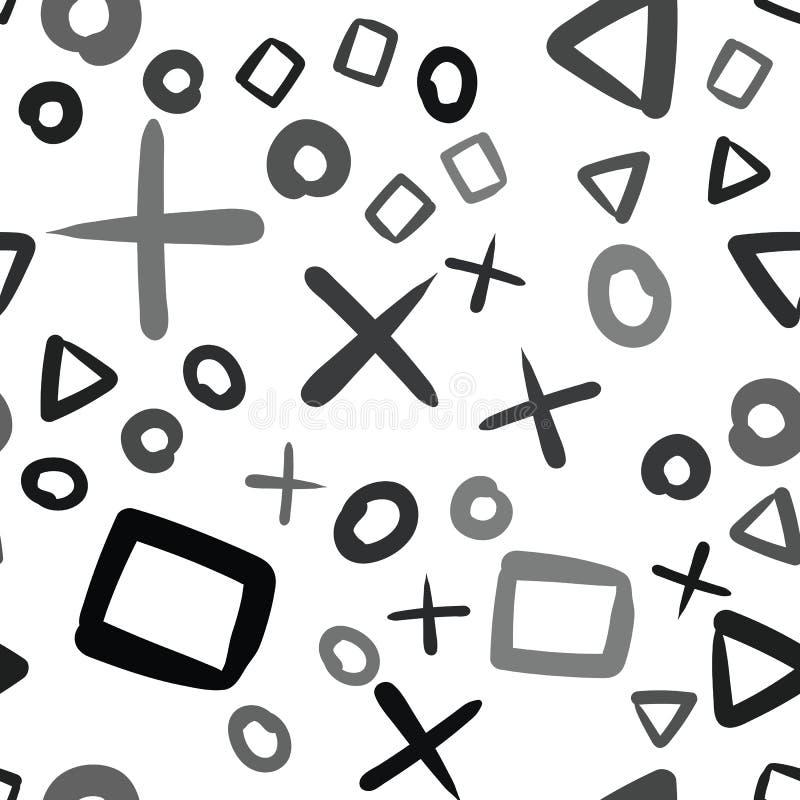 Przypadkowy geometryczny kszta?ta wz?r abstrakcyjny t?o Geometrical prosta ilustracja Kreatywnie, luksusu styl Druk karta, płótno ilustracja wektor