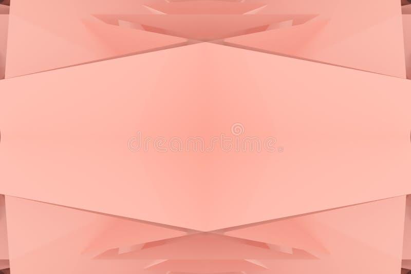 Przypadkowy geometryczny tło Dla graficznego projekta lub t?a, CGI 3 d czyni? royalty ilustracja