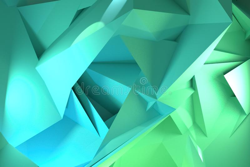 Przypadkowy geometryczny t?o Dla graficznego projekta lub t?a, CGI 3 d czyni? royalty ilustracja