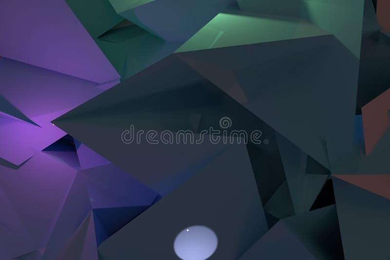 Przypadkowy geometryczny t?o Dla graficznego projekta lub t?a, CGI 3 d czyni? ilustracji