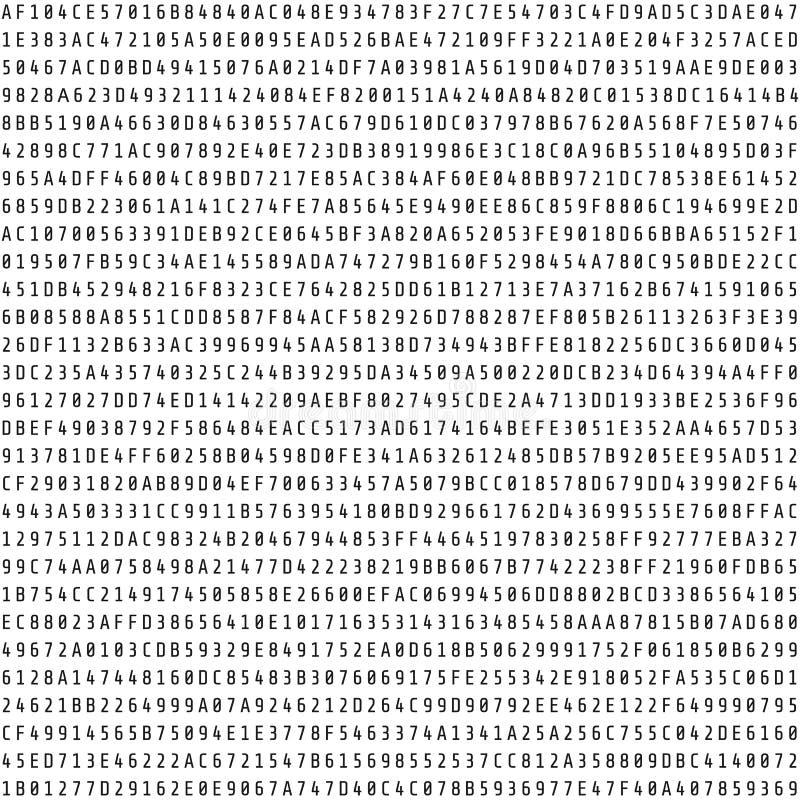 Przypadkowy heksadecymalny kodu strumień Abstrakcjonistyczny cyfrowych dane element Matrycy background Wektorowa ilustracja odizo ilustracja wektor