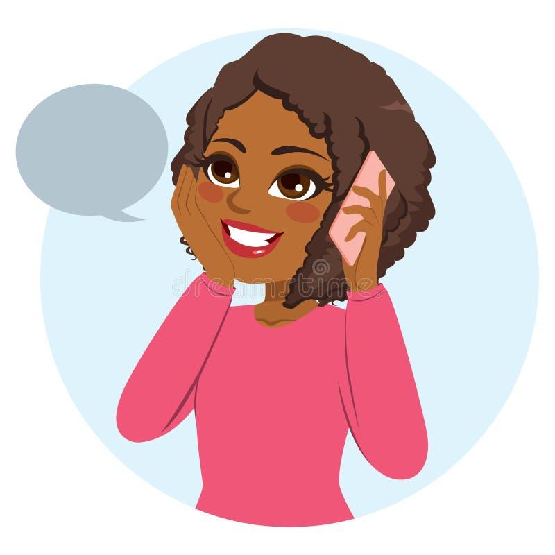 Przypadkowy kobieta telefon ilustracji