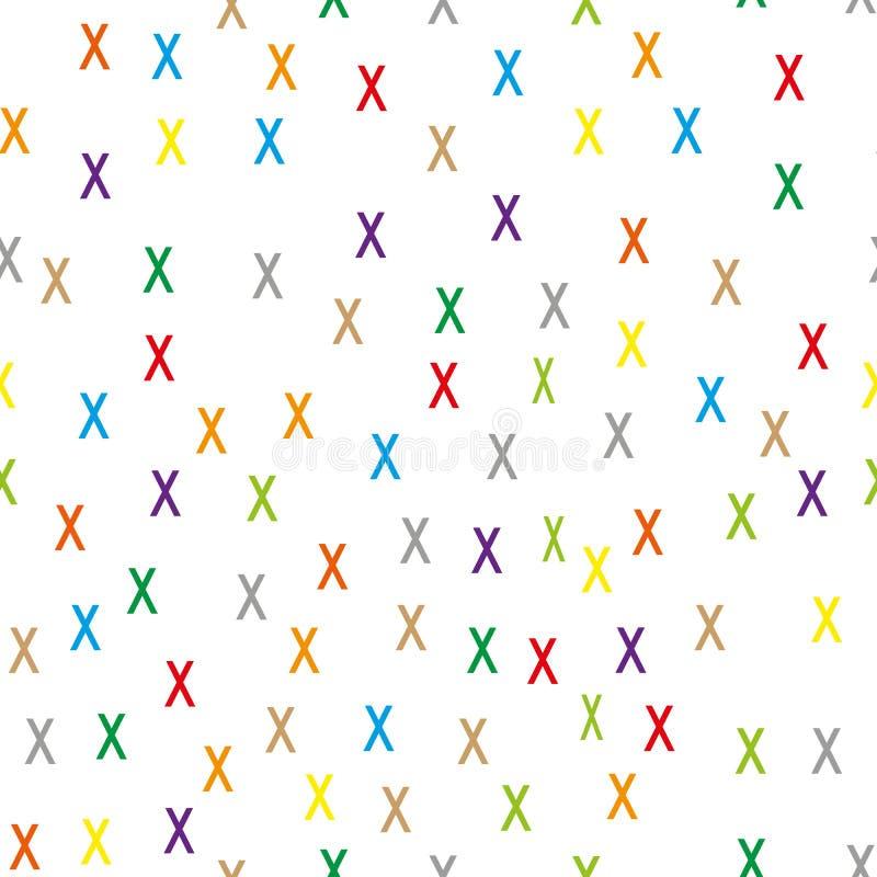 Przypadkowy krzyża wzór Abstrakcjonistyczny geometryczny tło, 70s, 80s, 90s luksusu stylu ilustracja Druku płótno, odziewa royalty ilustracja