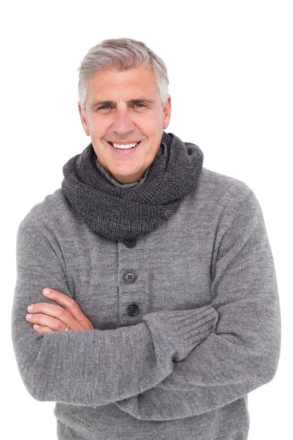 Przypadkowy mężczyzna w ciepłej odzieży fotografia royalty free