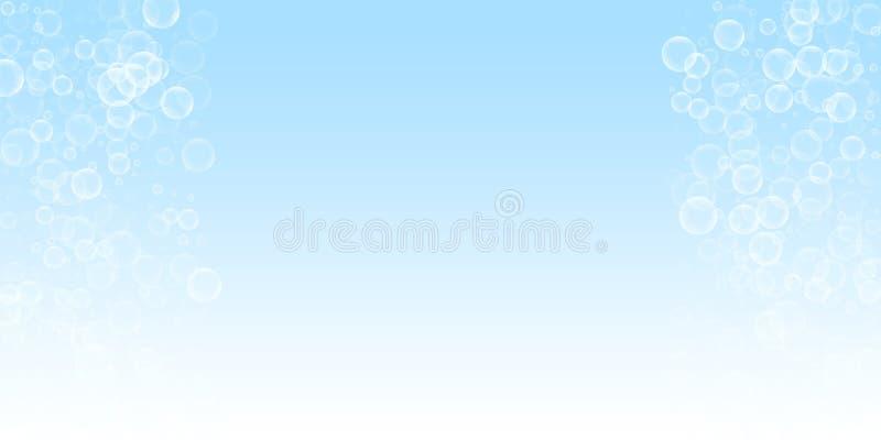 Przypadkowy mydlanych bąbli abstrakta tło Podmuchowy b royalty ilustracja