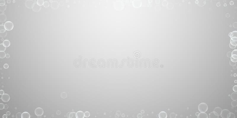 Przypadkowy mydlanych bąbli abstrakta tło Podmuchowy b ilustracji