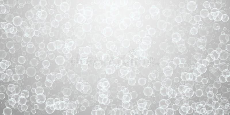 Przypadkowy mydlanych b?bli abstrakta t?o Podmuchowy b ilustracja wektor