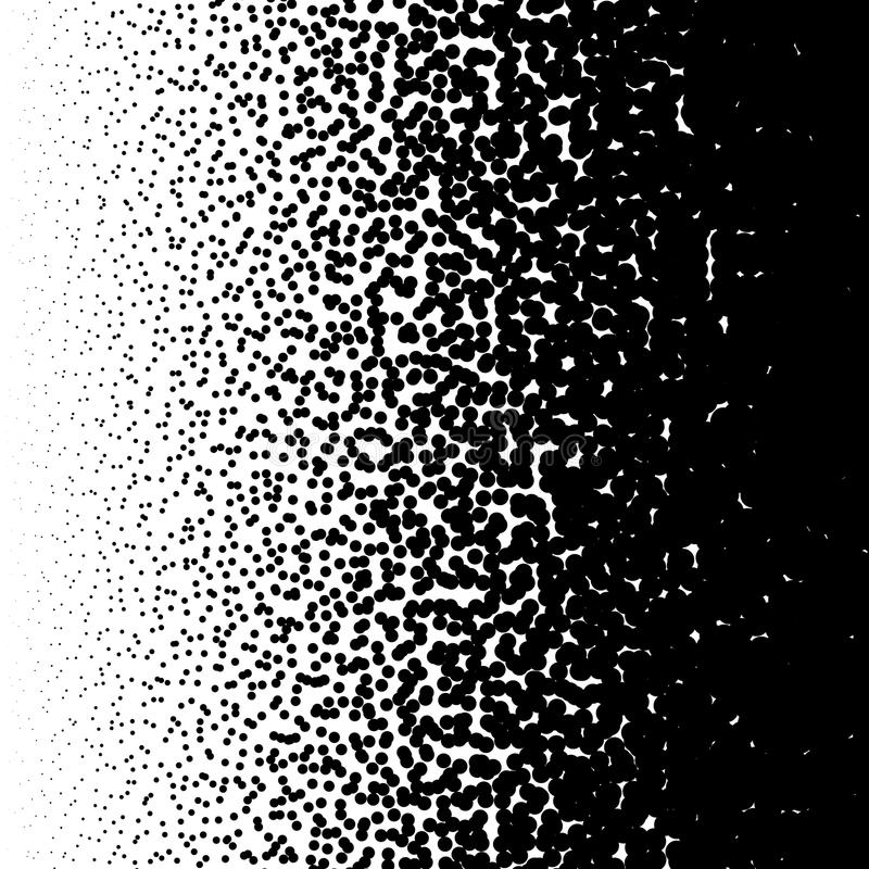 Przypadkowy okręgu wzór Halftone wzór, halftone gradient z royalty ilustracja