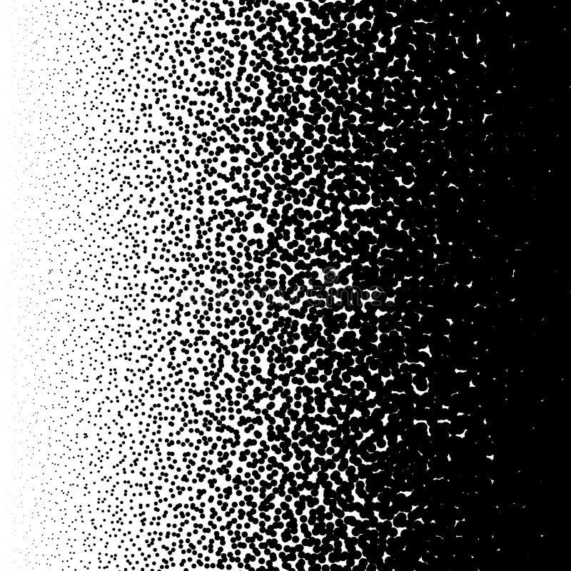 Przypadkowy okręgu wzór Halftone wzór, halftone gradient z ilustracja wektor