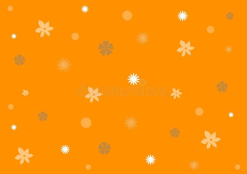 Przypadkowy pomarańczowy koloru kwiatu wzór royalty ilustracja