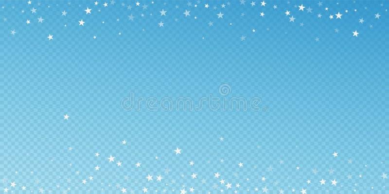 Przypadkowy spada gwiazd bożych narodzeń tło subtelny ilustracja wektor