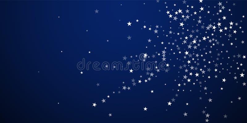Przypadkowy spada gwiazd bożych narodzeń tło subtelny royalty ilustracja