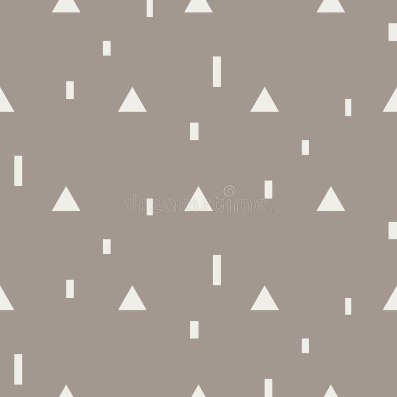 Przypadkowy trójbok kształtuje bezszwowego wektoru wzór ilustracji