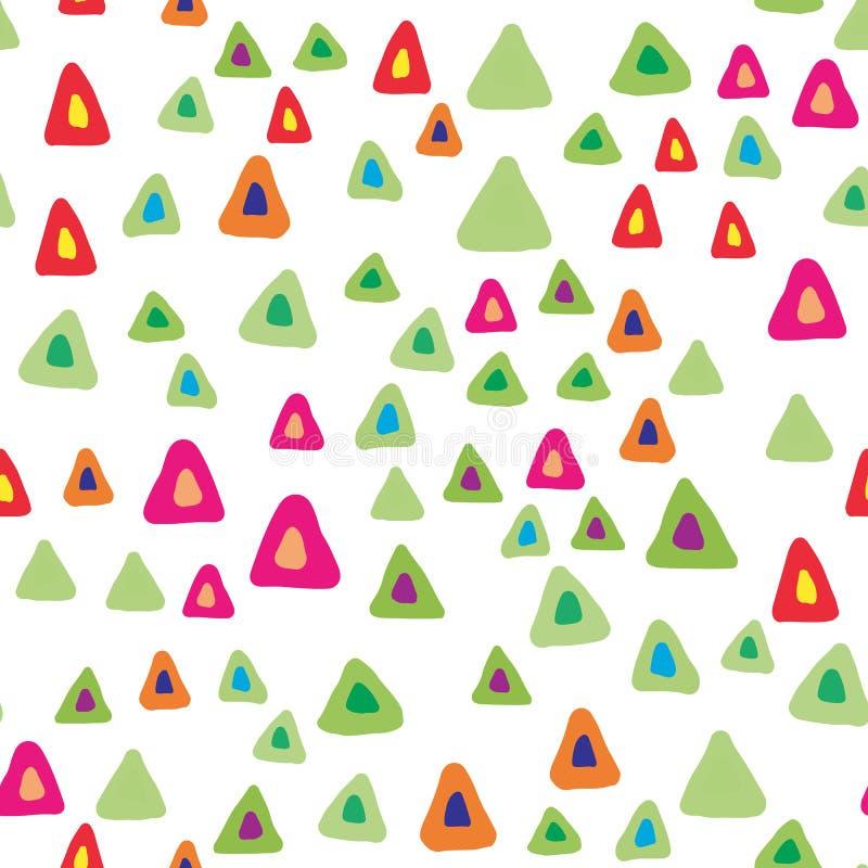 Przypadkowy trójbok kształtuje bezszwowego wzór na białym tle ilustracji