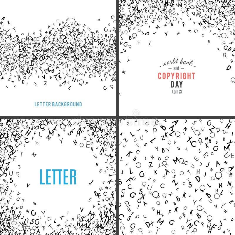Przypadkowych listów bezszwowy wzór ilustracja wektor