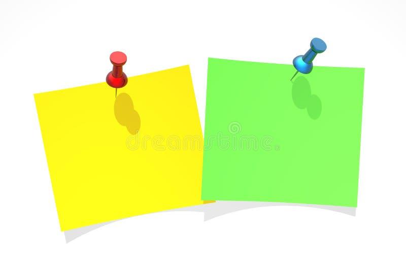 przypięty papieru kolor żółty ilustracji