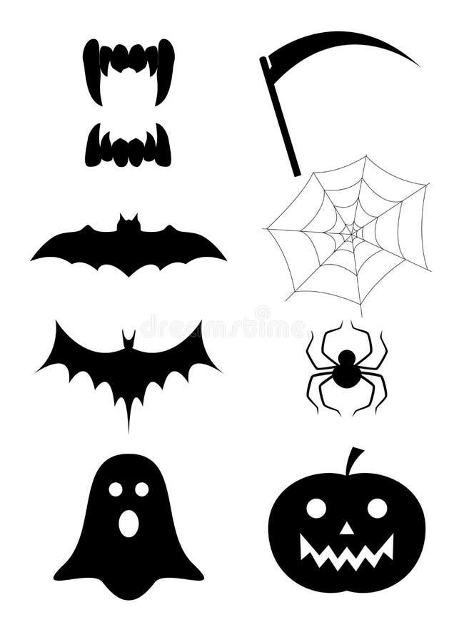przypisuje Halloween ilustracja wektor