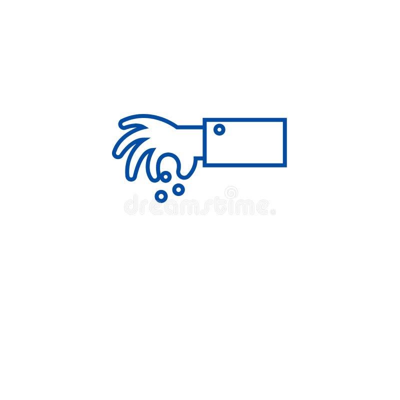 Przyprawiać z pikantności ikony kreskowym pojęciem Przyprawiający z pikantność płaskim wektorowym symbolem, znak, kontur ilustrac royalty ilustracja