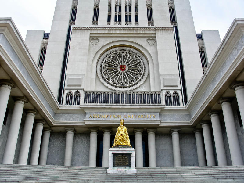 przypuszczenia budynku cl Thailand uniwersytet obraz royalty free
