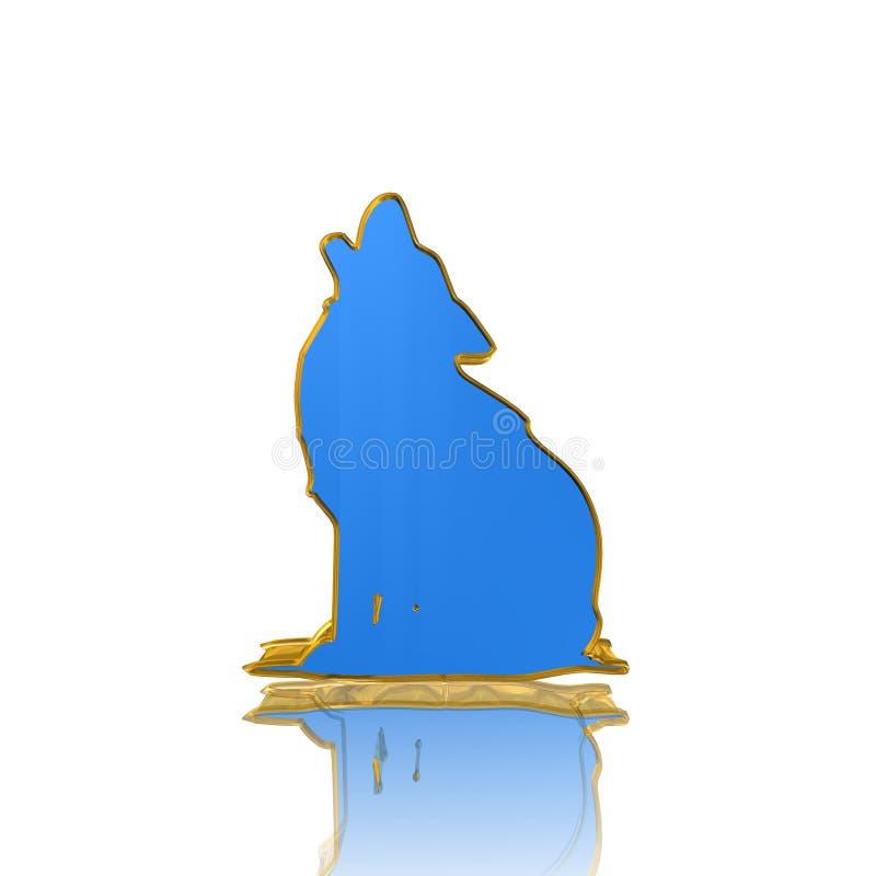 Przyroda, wilk, ikona, znak, najlepszy 3D ilustracja royalty ilustracja