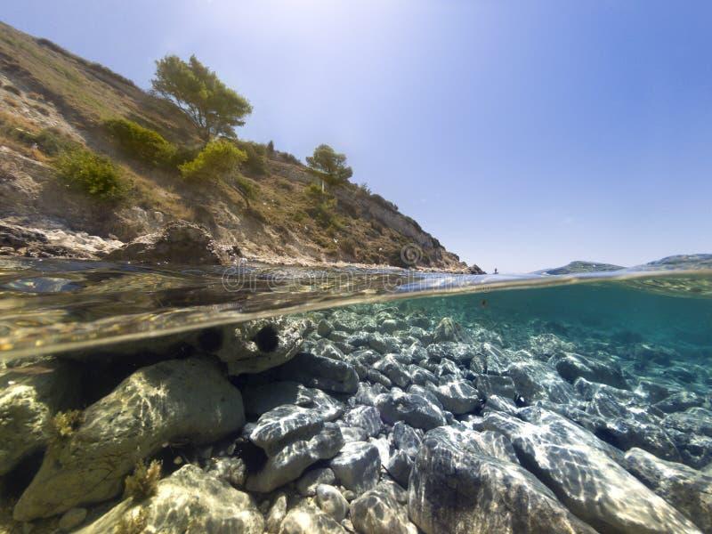Przyrodni podwodny w morzu fotografia royalty free