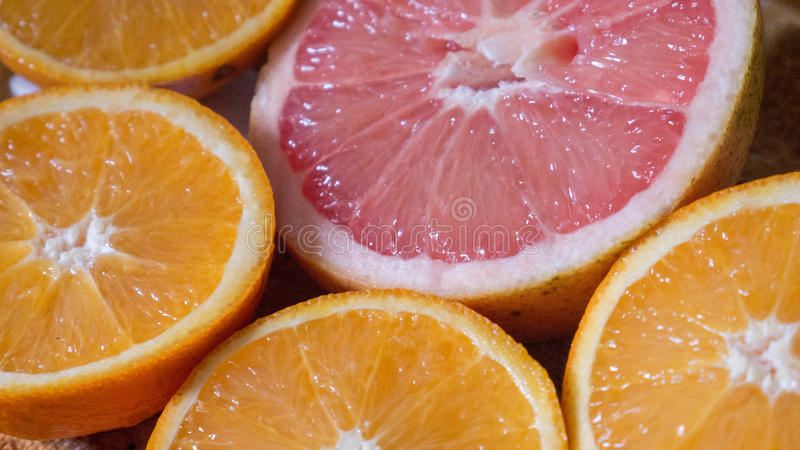 Przyrodni pomarańczowy i obraz stock