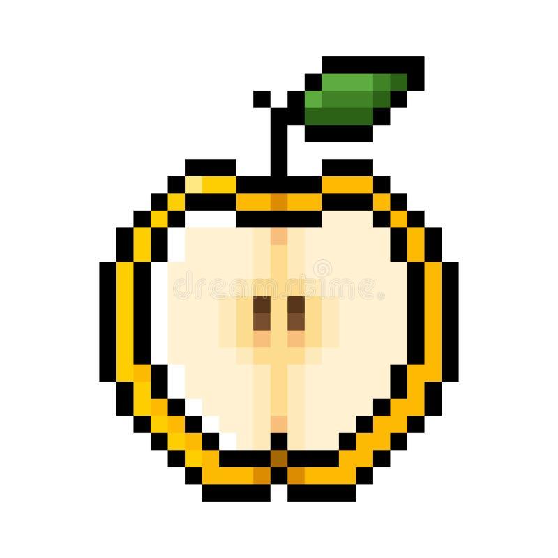 Przyrodnia żółta jabłczana piksel sztuka royalty ilustracja