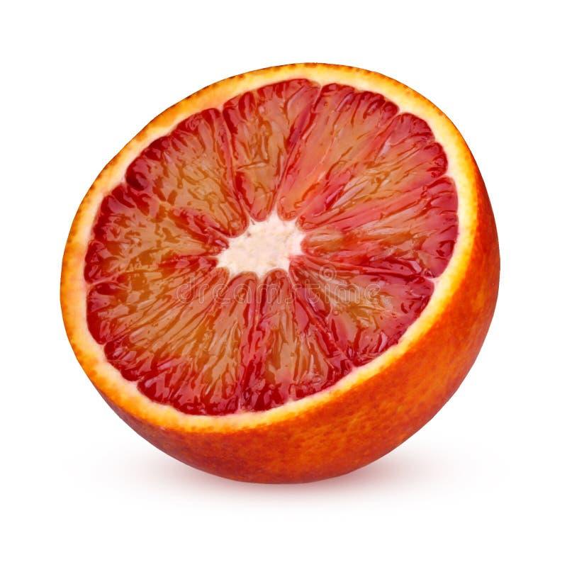 Przyrodnia czerwona krwionośna pomarańcze odizolowywająca na białym tle obrazy stock