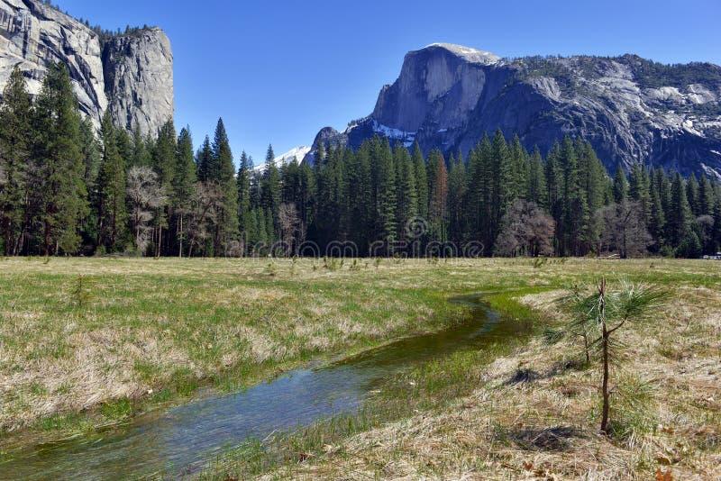 Przyrodnia kopuła w Yosemite parku narodowym, sierra Nevada góry, Kalifornia fotografia stock
