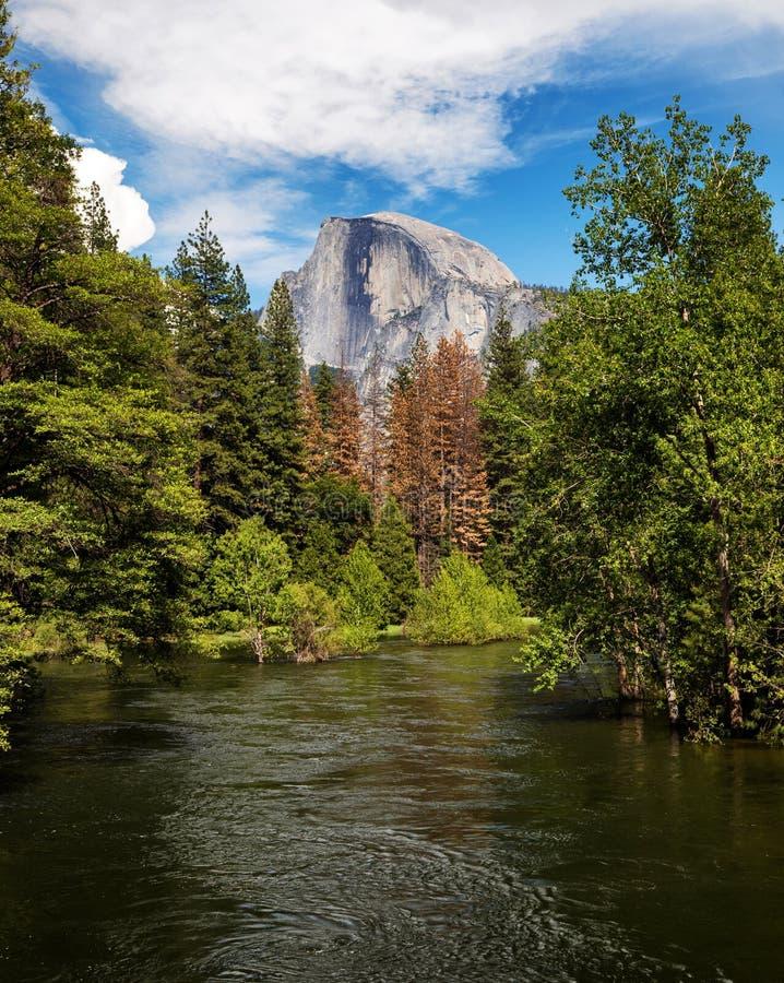 Przyrodnia kopuła, Yosemite park narodowy, Kalifornia obraz stock