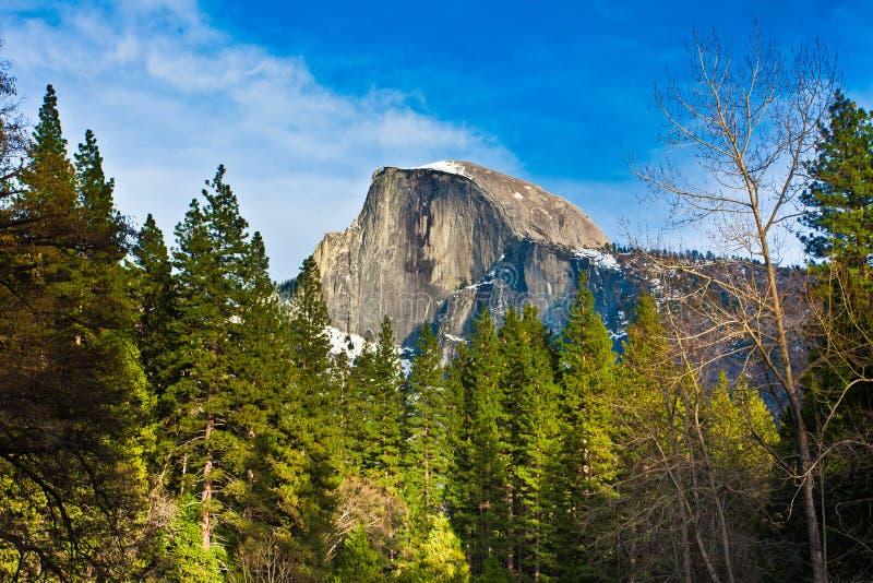 Przyrodnia kopuły skała punkt zwrotny Yosemite park narodowy, Kalifornia obrazy royalty free