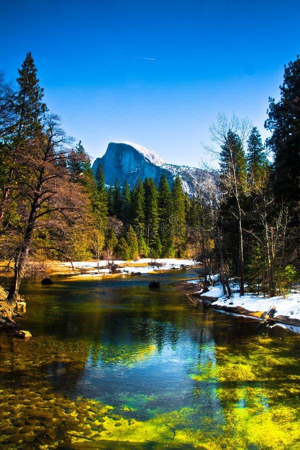 Przyrodnia kopuły skała punkt zwrotny Yosemite park narodowy, Kalifornia obraz royalty free