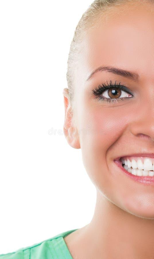 Przyrodnia twarz dentysty asystent zdjęcia royalty free