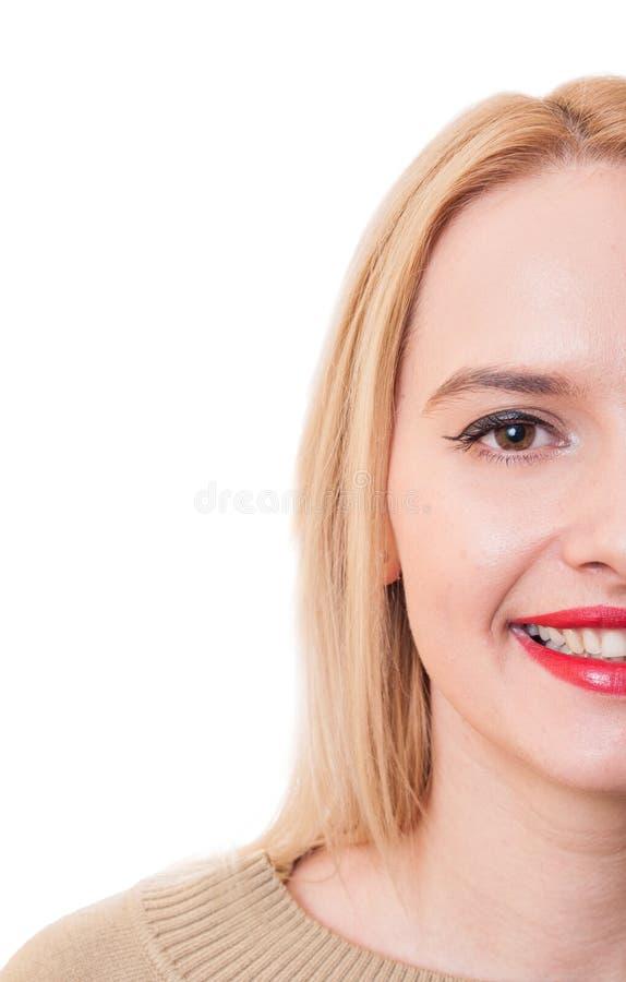 Przyrodnia twarz kobieta z kopii przestrzenią obraz royalty free